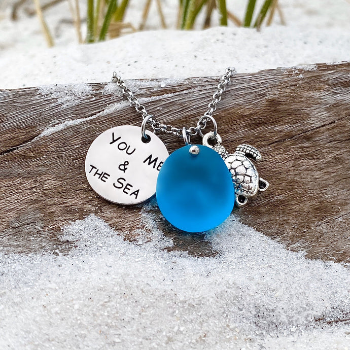 Sea Glass You Me and The Sea Necklace