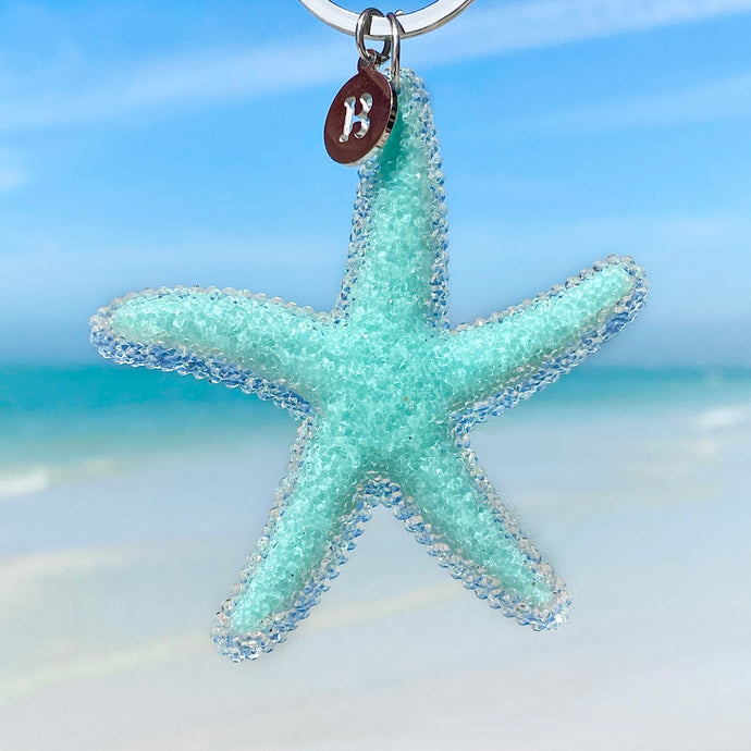 Playful Starfish Keychain