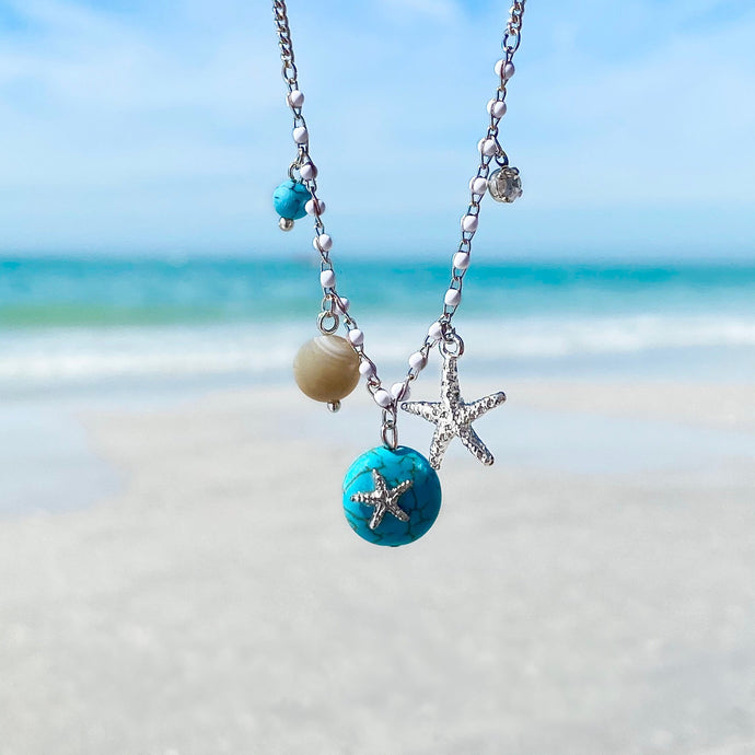 Turquoise Magnesite Starfish Necklace