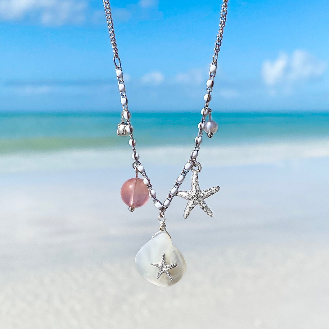 Mother of Pearl Starfish Necklace