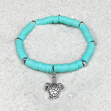 Load image into Gallery viewer, Teal Sea Turtle Bracelet