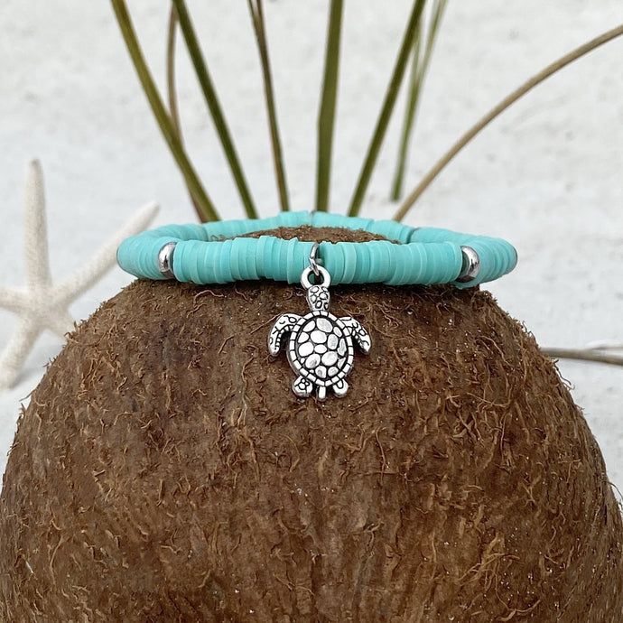 Teal Sea Turtle Bracelet