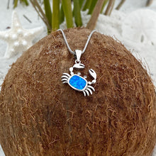 Load image into Gallery viewer, Blue Opal Sideways Crab Necklace