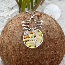 Load image into Gallery viewer, Stacked Sea Glass Pineapple Necklace