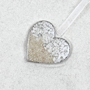 Sand Heart Ornament