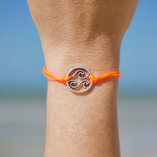 Load image into Gallery viewer, Bright Orange Triple Wave Bracelet