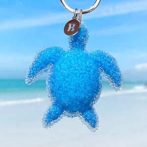 Playful Ocean Sea Turtle Keychain