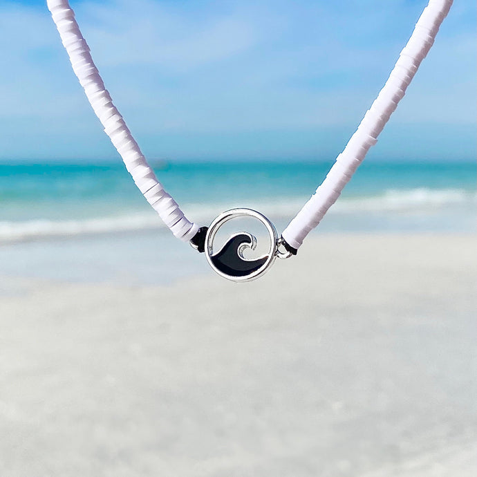 Black & White Wave Necklace