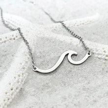 Load image into Gallery viewer, Silver Wave Necklace