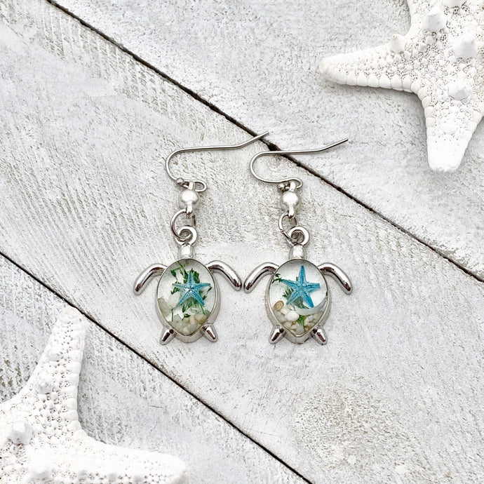 Deep in the Ocean Sea Turtle Earrings