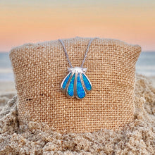 Load image into Gallery viewer, Blue Opal Classic Seashell Necklace