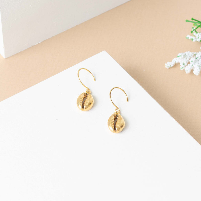 Concha Earrings Gold
