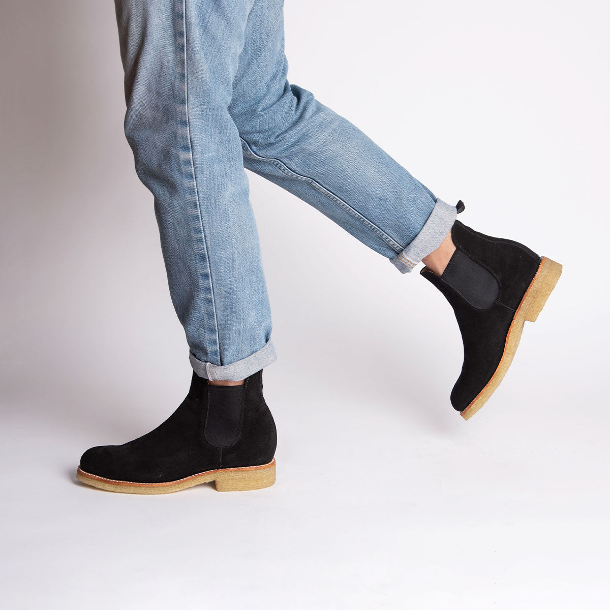 ARMANDO Chelsea Natural Boot Black Suede from Cano