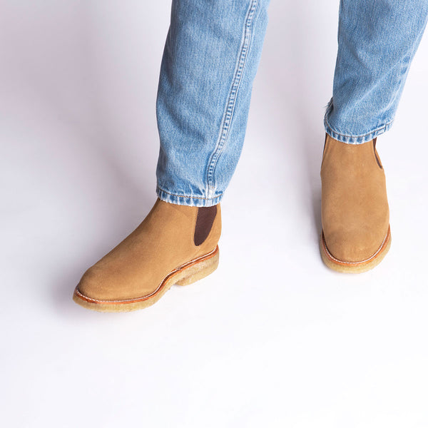 ARMANDO Chelsea Boot Natural Beige Suede
