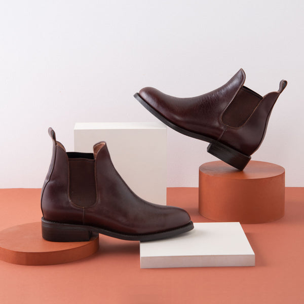 DENISE Chelsea Boot Boot Chocolate Tire