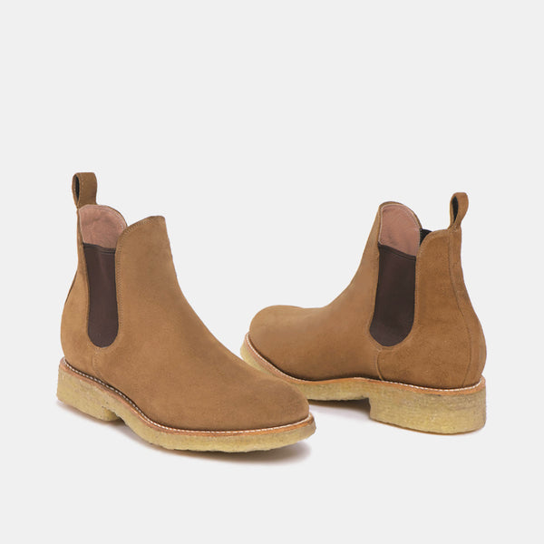 ARMANDO Chelsea Natural Boot Beige Suede