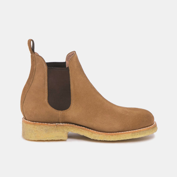 ARMANDO Chelsea Boot Natural Beige Suede - CANO