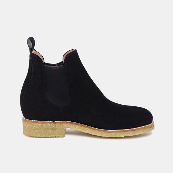 ARMANDO Chelsea Natural Boot Black Suede