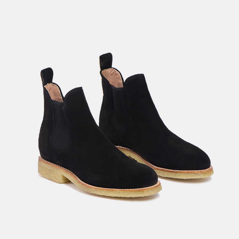ARMANDO Chelsea Natural Boot Black Suede - CANO