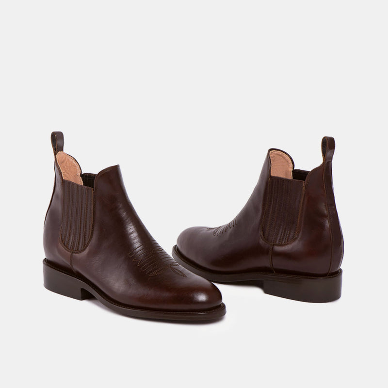CARLOS Charro Boot Chocolate - CANO