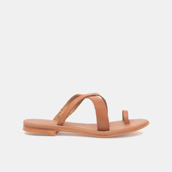 CARLA Leather Sandal Cognac