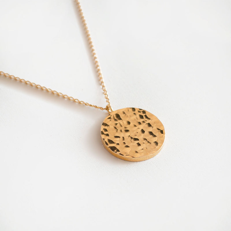 ANA Gold Necklace Hammered