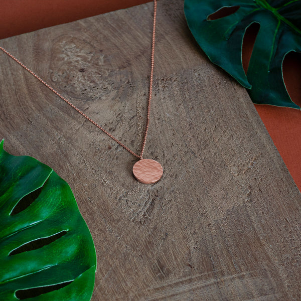 ANA Rosegold Necklace Hammered