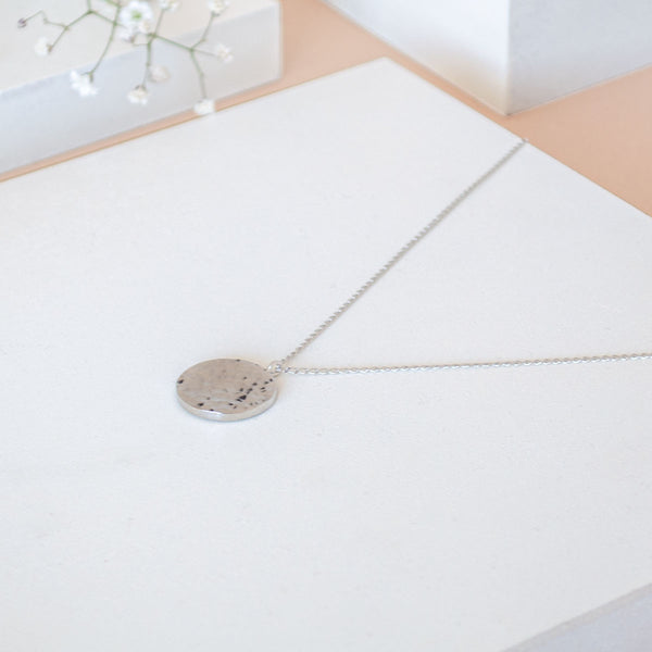 ANA Silver Necklace Hammered - CANO