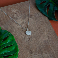ANA Silver Necklace Hammered