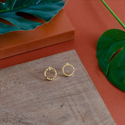 Marissa Gold Earrings Hammered