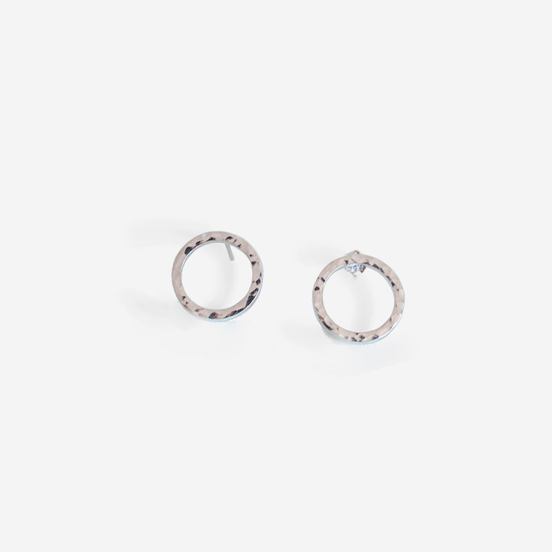 Marissa Silver Earrings Hammered