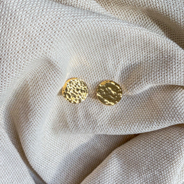 Alejandra Gold Earrings Hammered