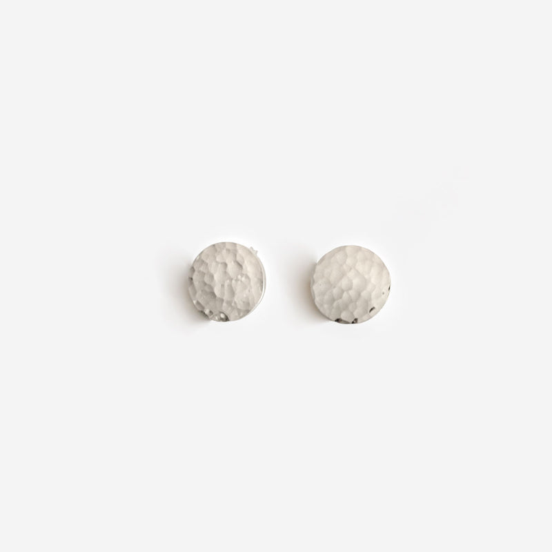 Alejandra Silver Earrings Hammered - CANO