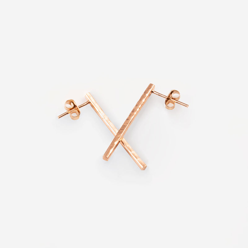 MARIBEL Rosegold Earring Hammered