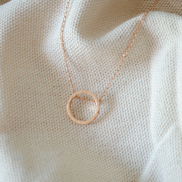 SOFÍA Rosegold Necklace Hammered - CANO