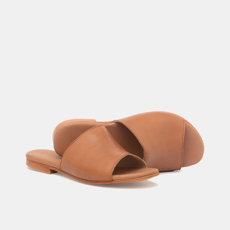 JOSELIN Leather Sandal Cognac - CANO