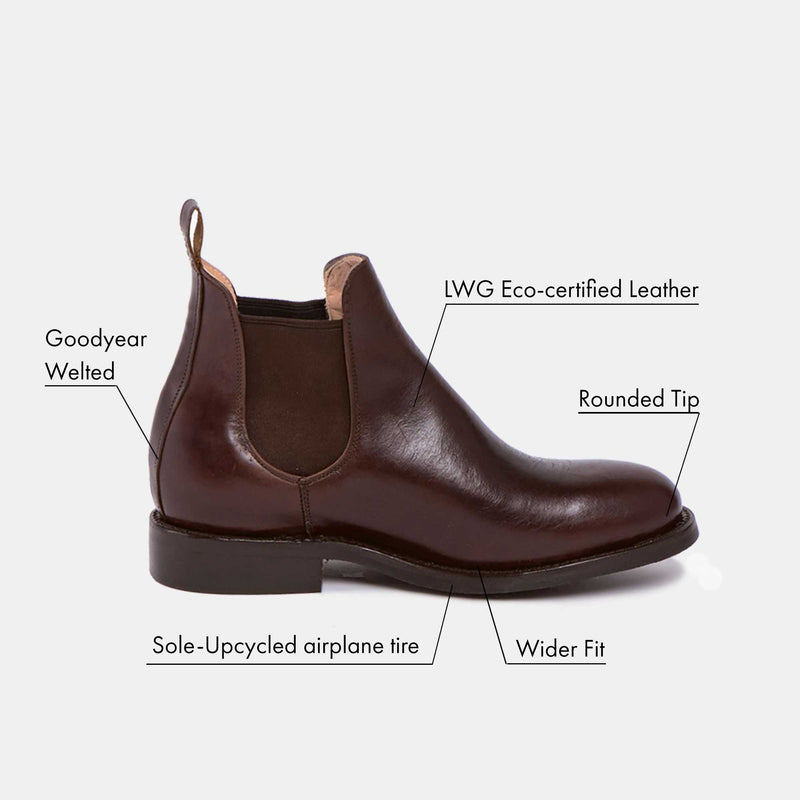 DENISE Chelsea Boot Chocolate Tire