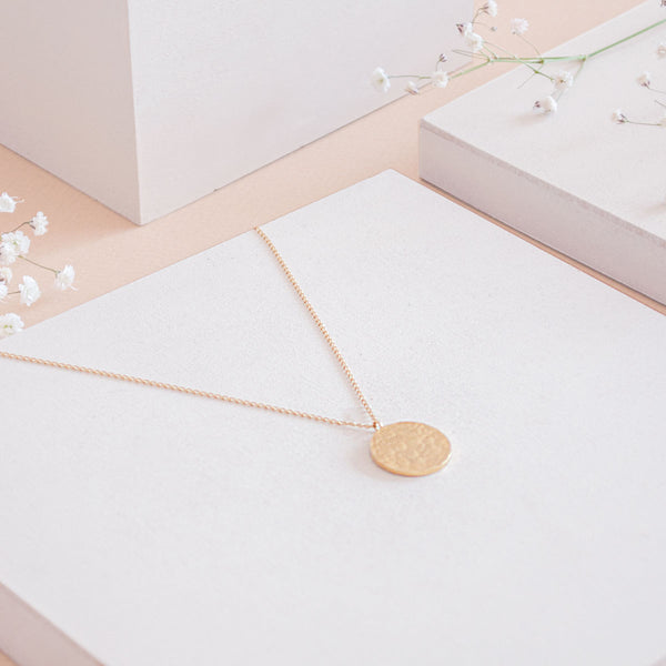 ANA Gold Necklace Hammered - CANO