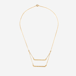 PATRICIA Gold Necklace Hammered