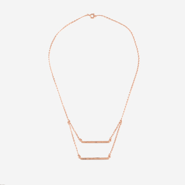 PATRICIA Rosegold Necklace Hammered