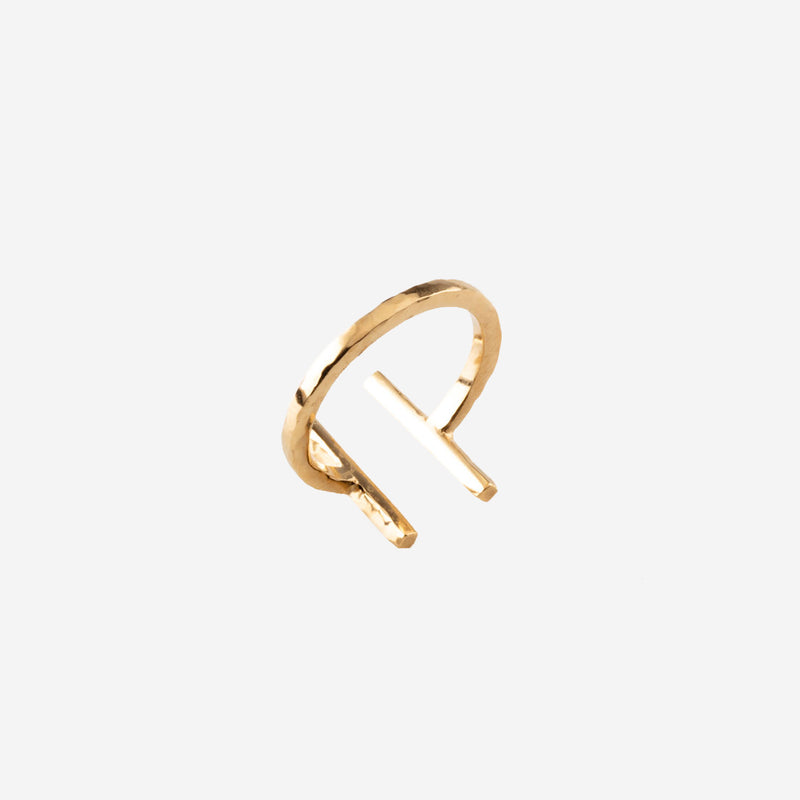 ARMADA Gold Ring Hammered - CANO