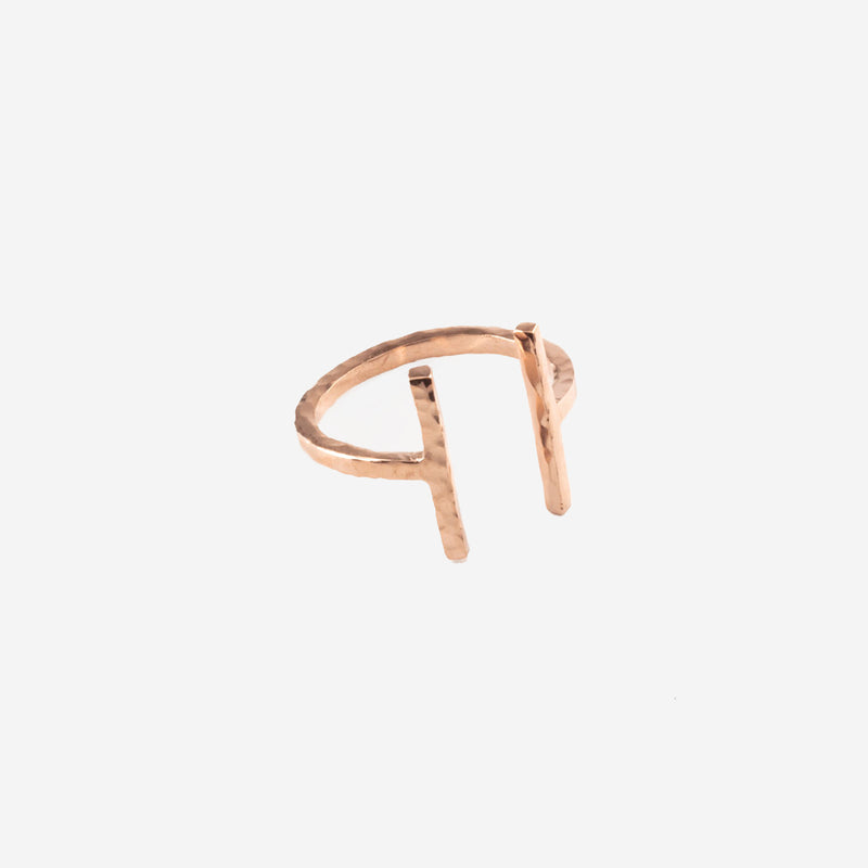 ARMADA Rosegold Ring Hammered