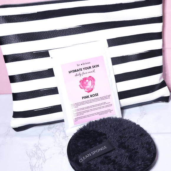 Pink Rose Petal Hydrating Facial Mask - She's A Beat Beauty