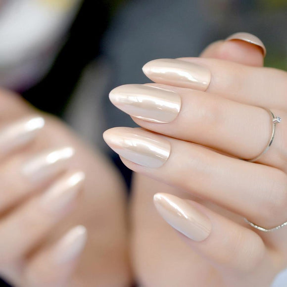 Nude Stiletto Press On Nails - She's A Beat Beauty