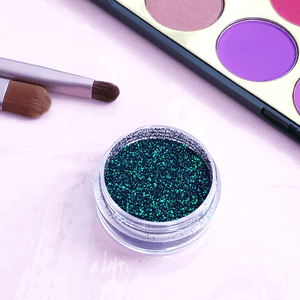 Emerald Holographic Duochrome Chameleon Glitter Eyeshadow - She's A Beat Beauty