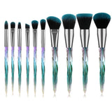 Crystal Diamond Makeup Brushes - She's A Beat Beauty