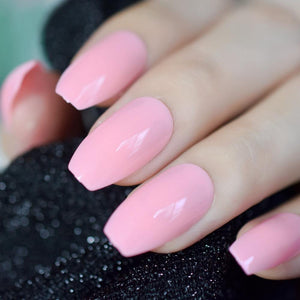 Pink Candy Coffin Press On Nails - She's A Beat Beauty