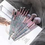 10 Piece Professional Makeup Brush Set - She's A Beat Beauty