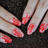 Nude Red Art Coffin Press On Nails - She's A Beat Beauty