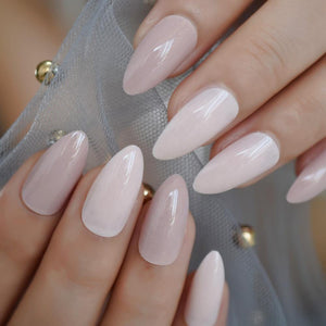 Pearl Shimmery Stiletto Press On Nails - She's A Beat Beauty